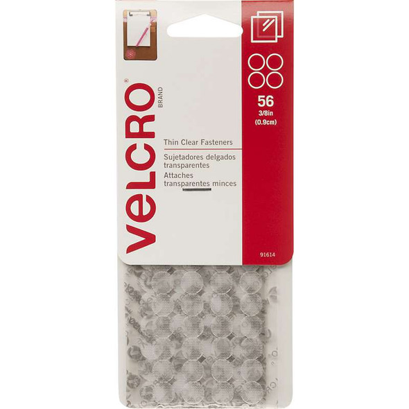 """VELCRO(R) Brand Thin Fasteners Dots 3/8"""" 56/Pkg Clear"""