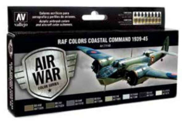 RAF Colors Coastal Command 1939-1945, 17ml by Vallejo, Model Paint