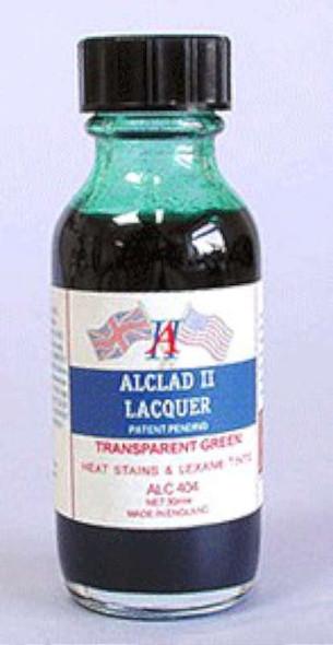 Alclad II Lacquers Transparent Green 1oz