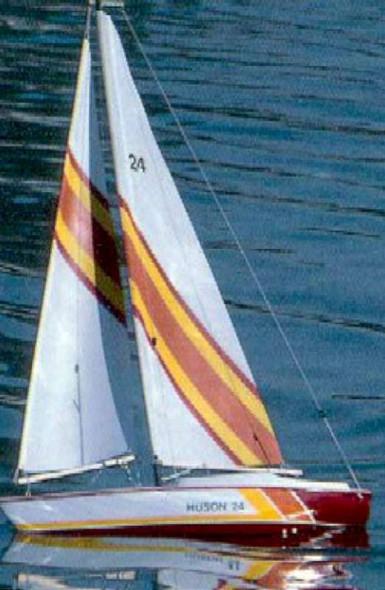 Huson Wooden Sailboat Kit by Dumas