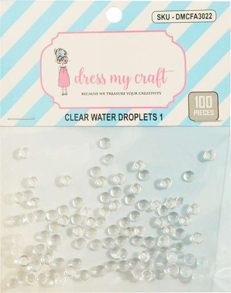 Dress My Crafts Water Droplet Embellishments 100/Pkg #1, 4mm