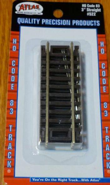 Atlas Code 83 3 Straight Nickel Silver HO 522