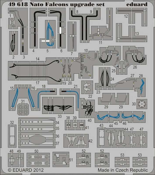 Nato F-16 Falcons Upgrade Set (designed to Be Used with