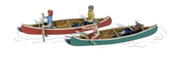Woodland Scenics A1918 Canoers w/2 Canoes - Scenic Accents - HO