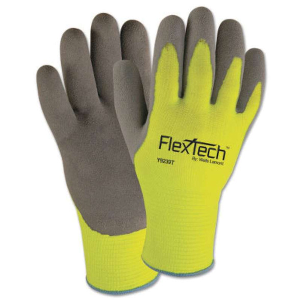 Wells Lamont FlexTech™ Hi-Visibility Knit Thermal Gloves with Latex Palm
