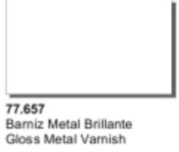 Vallejo Acrylics Metal Color - Gloss Metal Varnish 32ml 77657