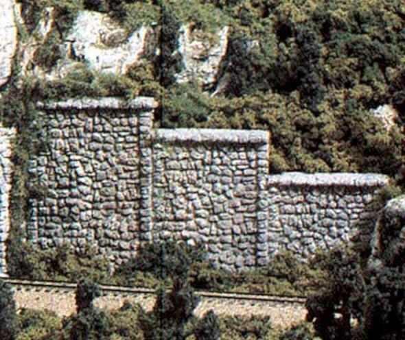 Woodland Scenics Random Stone Retaining Walls - 6 count