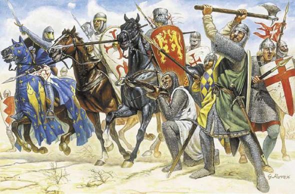 Crusaders, 1/72 by Italeri, Model Figures