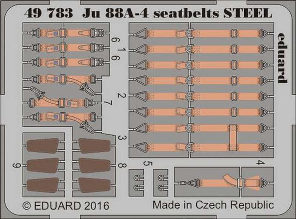 1/48 Aircraft- Seatbelts JU88A4 Steel for ICM (Painted)