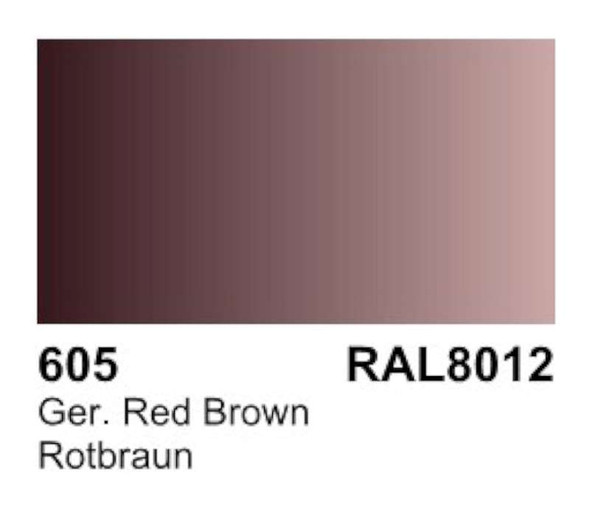 Acrylic German Red Brown Primer RAL 8012 (60ml), 85ml by Vallejo, Mo