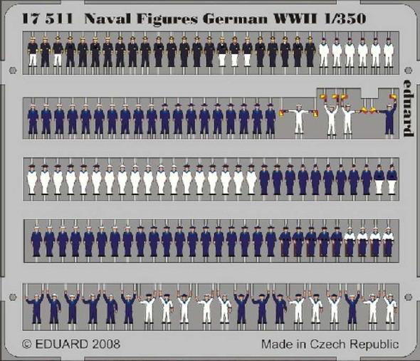 Eduard Photoetch 1:350 - Naval Figures German WWII 1/350 - EDP17511