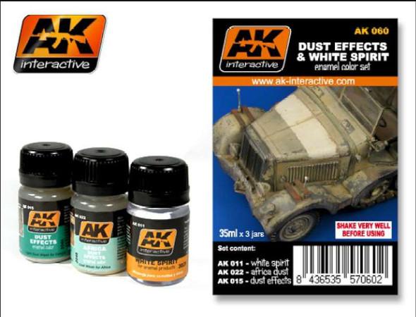 AK Interactive Dust Effects & White Spirit Enamel Paint -- Hobby
