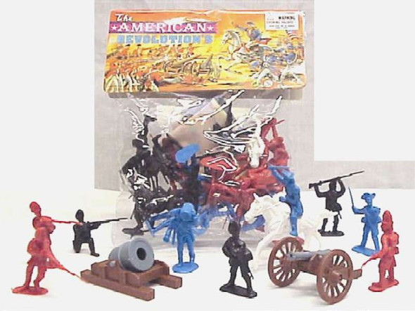 50 Piece Revolutionary War Plastic Army Men 65mm Soldier Figure Toy