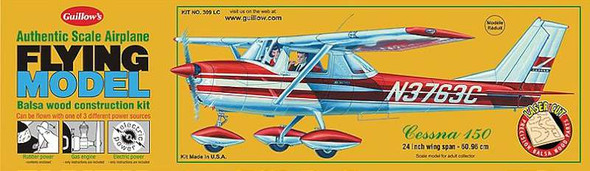 Guillow 309 Cessna 150 Plane Balsa Wood Model Kit