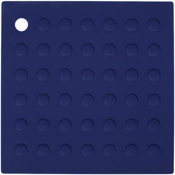 Square Silicone Trivet Navy Blue