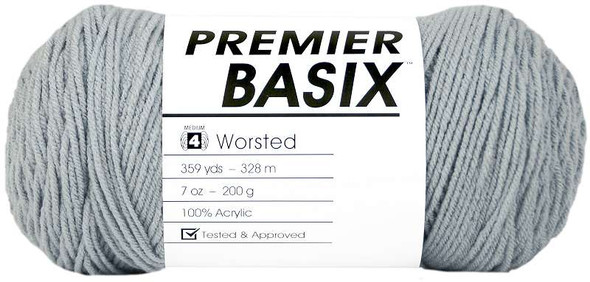 Premier Yarns Basix Yarn Light Gray