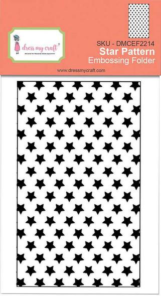 "Dress My Craft Embossing Folder 3""X4.75"" Star Pattern"