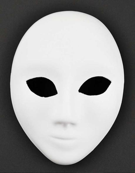 "Mask-It Full Mask 6"" White"