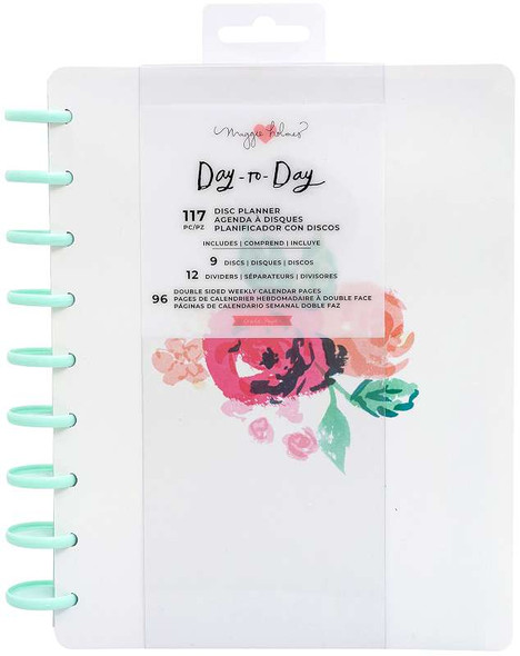 """Maggie Holmes Day-To-Day Undated 12 Month Planner 7.5""""X9.5"""" Blossom"""