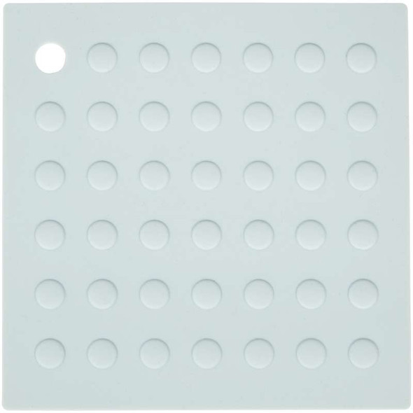 Square Silicone Trivet Baby Blue