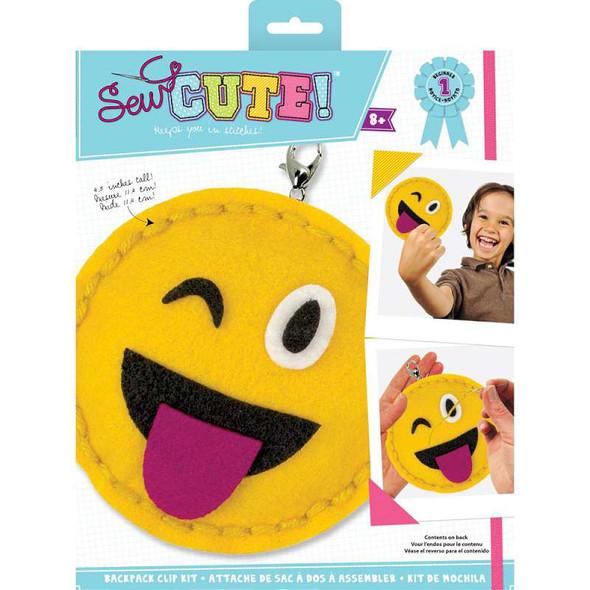 Sew Cute! Mini Felt Kit Emoji One Eye Open