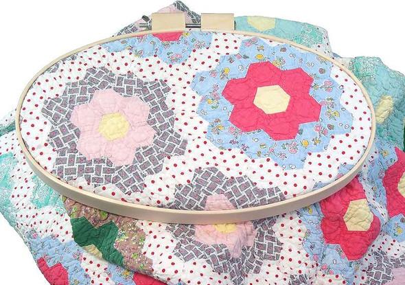 "Frank A Edmunds Beechwood Embroidery Hoop 3/"" 715627120238"