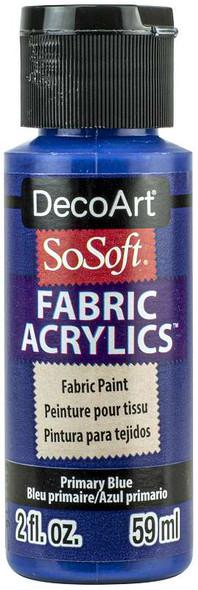SoSoft Fabric Acrylic Paint 2oz Primary Blue