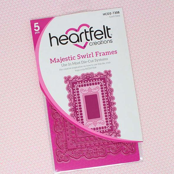 Heartfelt Creations Majestic Frames Cut & Emboss Dies Majestic Swirl Frames