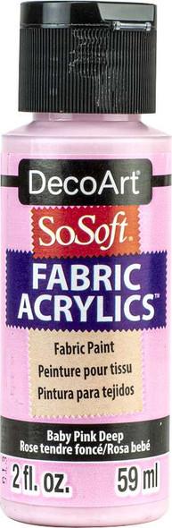 SoSoft Fabric Acrylic Paint 2oz Baby Pink Deep