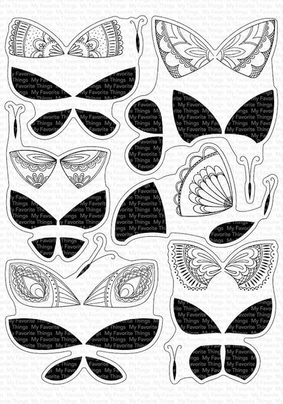 """My Favorite Things Clear Stamps 6""""X8"""" Brilliant Butterflies"""