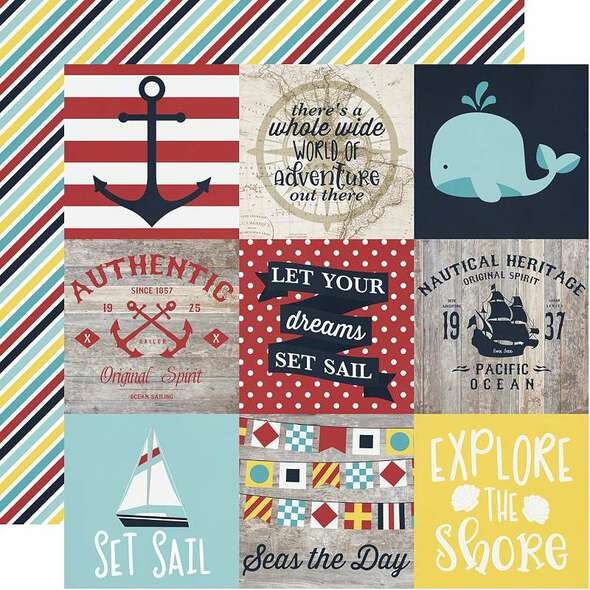 """Cruisin' Double-Sided Cardstock 12""""X12"""" 4""""X4"""" Elements"""