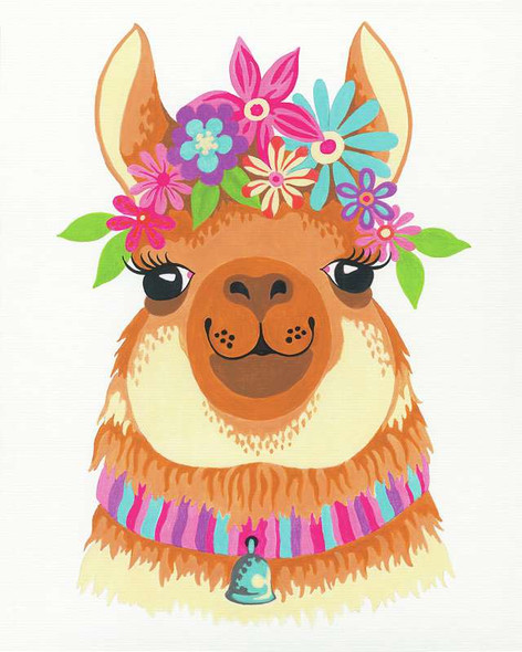 """Paint Works Paint By Number Kit 8""""X10"""" Flowery Llama"""