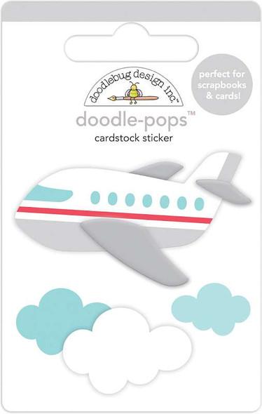 Doodlebug Doodle-Pops 3D Stickers Jet Set, I Heart Travel
