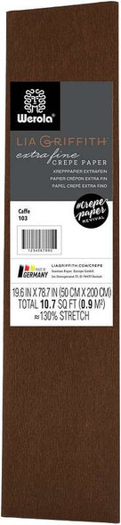 "Extra Fine Crepe Paper 19.6""X78.7"" Cafe"