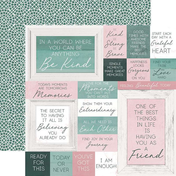 """Lily & Moss Double-Sided Cardstock 12""""X12"""" Circular"""