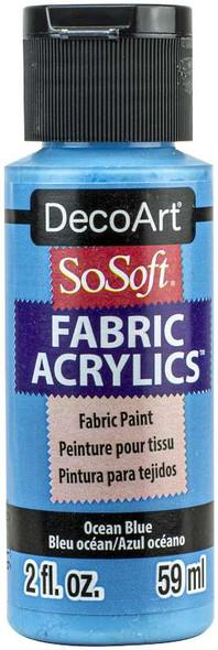 SoSoft Fabric Acrylic Paint 2oz Ocean Blue