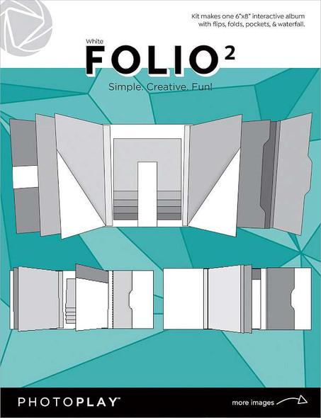 """Photoplay Folio 6""""X8"""" White"""