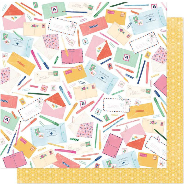 """Dear Lizzy She's Magic Double-Sided Cardstock 12""""X12"""" Sincerely Yours"""