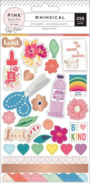 Paige Evans Whimsical 4-Page Sticker Book W/Copper Foil Accents