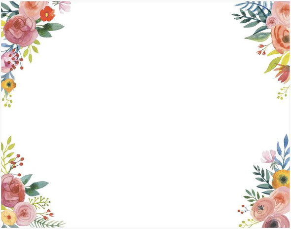 """AC Patterned Poster Board 22""""X28"""" Floral Corners"""