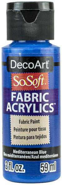 SoSoft Fabric Acrylic Paint 2oz Mediterranean Blue