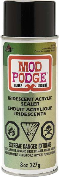 Mod Podge Iridescent Acrylic Sealer Spray 8oz Green Gold
