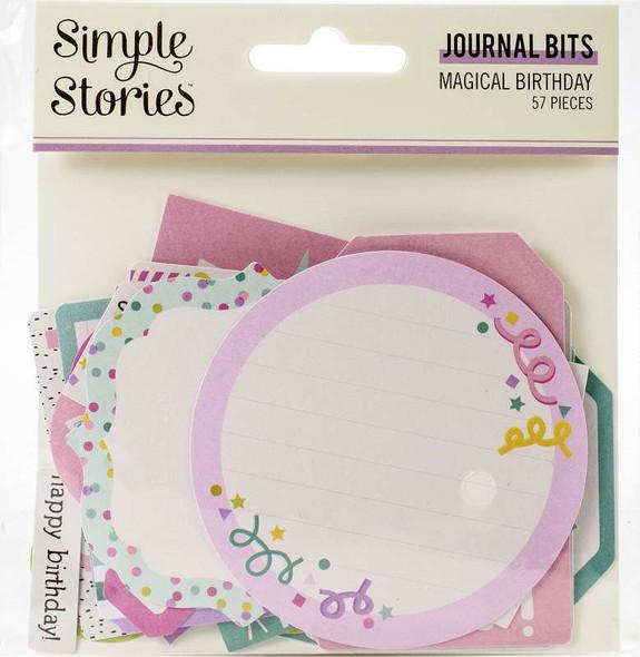 Magical Birthday Bits & Pieces Die-Cuts 57/Pkg Journal
