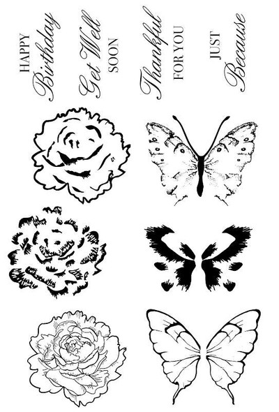 """With Love Clear Stamps 6""""X4"""""""