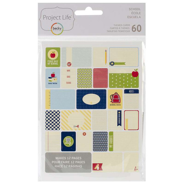 Project Life Themed Cards 60/Pkg School