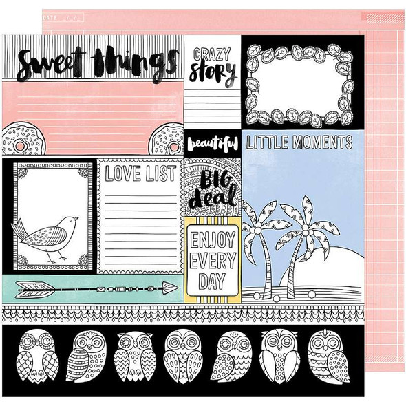 """Amy Tan Oh Happy Life Double-Sided Cardstock 12""""X12"""" Big Deal"""