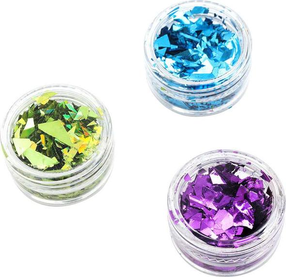 American Crafts Color Pour Foil Flakes .1oz Cool, 6/Pkg