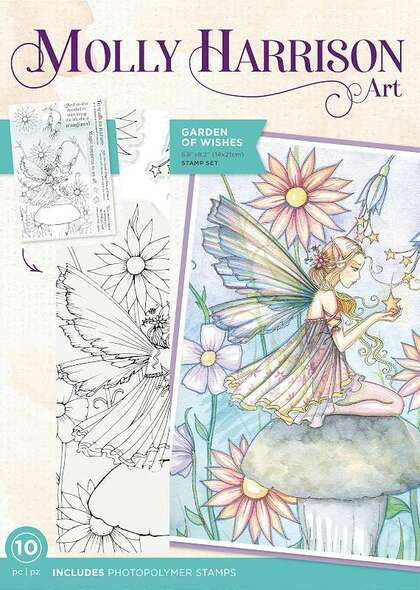 Crafter's Companion Photopolymer Stamps By Molly Harrison Garden Of Wishes