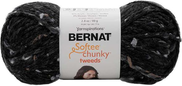 Bernat Softee Chunky Tweeds Yarn Small Ball Black