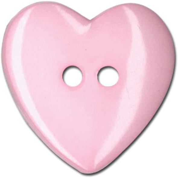 "Slimline Buttons Series Funtastics  Pink Heart 2-Hole 1"" 2/Pkg"